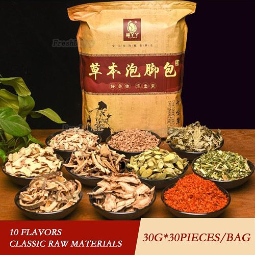 900G 10 Flavors Foot Bath Powder Bathing Detox Pure Flavor Dense Scent Brown-Bright Insomnia Herb Dysmenorrhea Foot SPA Massage