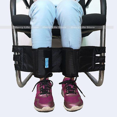 Wheelchair Leg Strap Velcro Close Leg Safety Restraint Belt Foot Support Belt for Disabled Elders,Patients,Seniors
