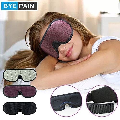 BYEPAIN Sleep Eye Mask , 3D Contoured Cup Sleeping Mask & Blindfold, Soft Comfort Eye Shade Cover for Travel Yoga Nap, Purple