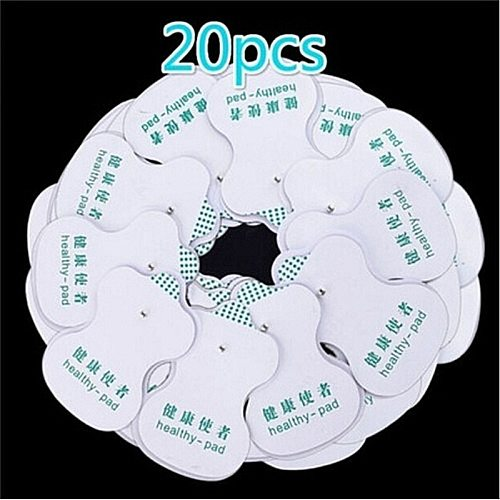 20pcs/set White Electrode Pads For Electric Tens   Digital Therapy Machine for Slimming Electric Body Massager