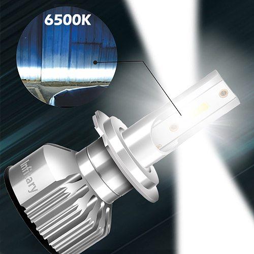 Infitary Mini Car H7 H4 Led Headlights 10000LM 6500K H1 H3 H11 H13 HB3 HB4 HB5 9005 9006 9007 Ice Diode Lamp Auto Fog Light Bulb