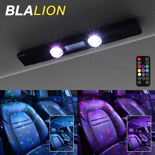 LED RGB Car Atmosphere Lamp USB Wireless Lamp Roof Star Light Multiple Modes Automotive Interior Ambient Decorative Party Lights