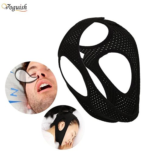 Anti Snoring Sleeping Chin Strap Best Stop Snoring Device Adjustable Snore Reduction Belt Sleep Aids Chin Strips Belt for Unisex