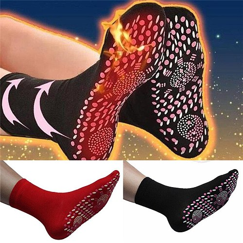 Self-heating physiotherapy socks Tourmaline Magnetic Therapy foot massage warm socks Healthy care feet Massage Tool