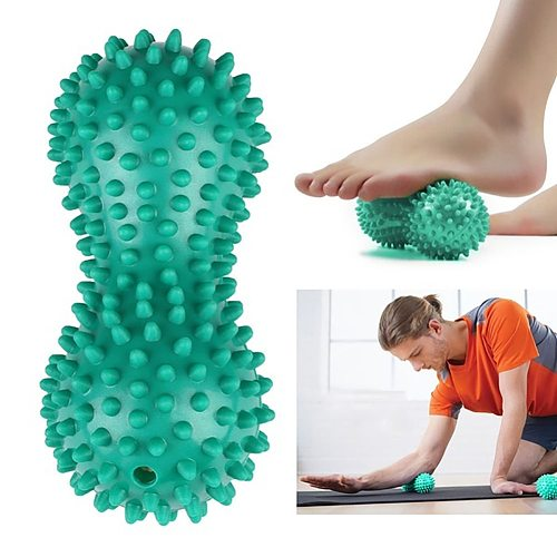Joylife Peanut Shape Massage Yoga Sport Fitness Ball Durable PVC Stress Relief Body Hand Foot Spiky Massager Trigger Point Foot