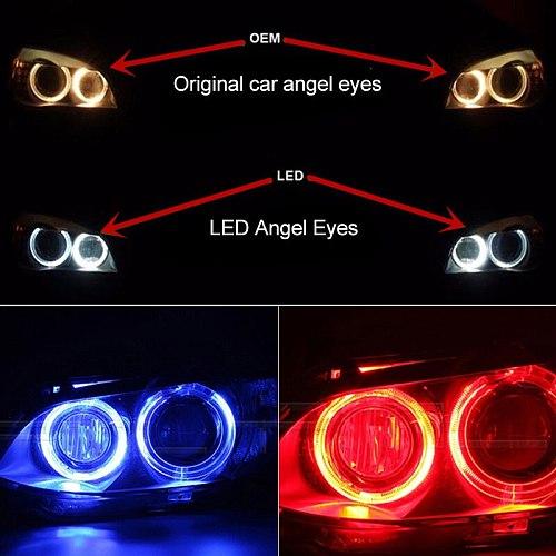 2pcs x CANbus 10w LED Angel Eyes Marker Lights Bulbs Error Free White/Red/Blue for BMW E90 E91 3 Series 325i 328i 335i 2006-2008