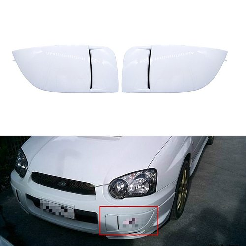 1 Pair New Car Front Bumper Fog Light Lamp Covers Mask Bumper Cover Cap Trim Protection For Subaru Impreza STI WRX 2004-2005