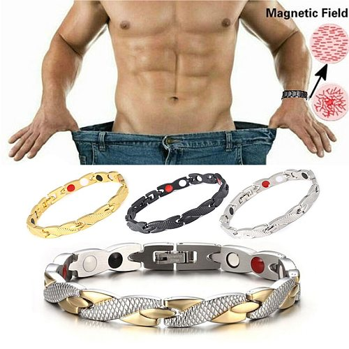 Twisted Magnets Healthy Weight Loss Bracelets & Bangles Jewelry Bio Magnetic Bracelets Charm Bracelets For Men Women Weight Loss