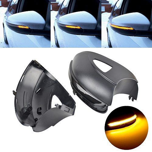 For Volkswagen VW GOLF 6 VI MK6 GTI R line R20 Touran Dynamic Blinker LED Turn Signal Light Side Mirror Indicator Sequential
