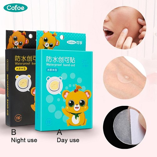 16 pcs Cofoe Acne Pimple Patch Invisible Hydrocolloid Acne Stickers Spot Dot Acne Cover for day / night