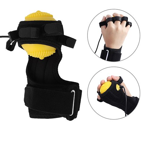 Electric Hand Massage Ball Infrared Therapy Hot Compress Stroke Hemiplegia Finger Rehabilitation Recovery Training Machine Set