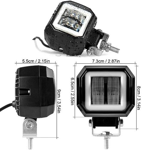 3 Inch Angel Eyes Led Work Light 12V 24V For Car DRL Halo 4x4 Offroad Motorcycle Bicycle ATV SUV Truck Working Driving Lights
