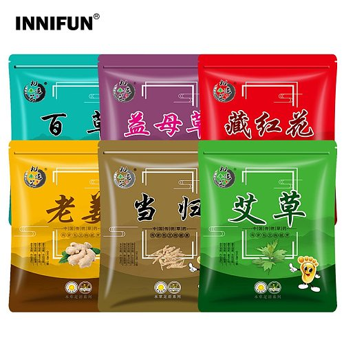 30 pcs Foot Bath Powder Wormwood Herb Ginger Safflower Foot Medicine Bag SPA Foot Relaxation Improve Insomnia Perspiration
