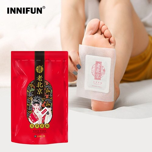 10pcs Original Detox Foot Patches Plasters For Feet Relieve Fatigue Foot Patch Sleeping Pad Wormwood Herbal Body Health Care