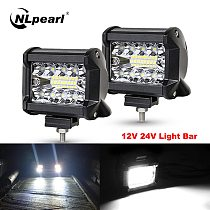Nlpearl 2x 4  7  60W 120W LED Bar Car LED Light Bar for Offroad Trucks Boat Trailer Tractor 4x4 4WD ATV Car Extral Driving Light