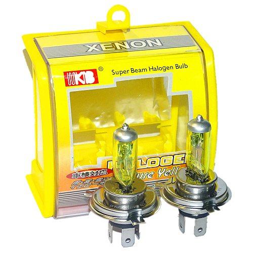 2x Car HeadLight Bulbs HB2 9003 H4 12V 100W 60W Auto Halogen Bulb Yellow 3000K Quartz Glass Car Head Light XENON H4 Car Fog Lamp