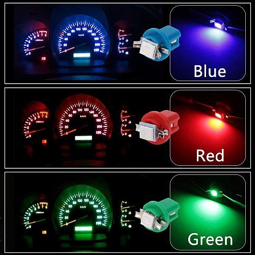 10Pcs B8.5D 509T B8.5 5050 Led 1 SMD T5 Lamp Car Gauge Speed Dash Indicator Bulb Dashboard instrument Light Wedge Interior Lamp