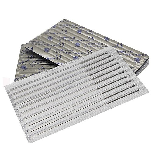 100 disposable sterile acupuncture needle sterile acupuntura asepsis aluminum foil packing Cloud dragon