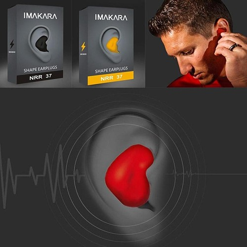 1pair Moldable Shaped Silicone Anti-noise Ear Plugs Noise Reduction Sleeping Protection Soft Anti-snoring Health Care Earplugs