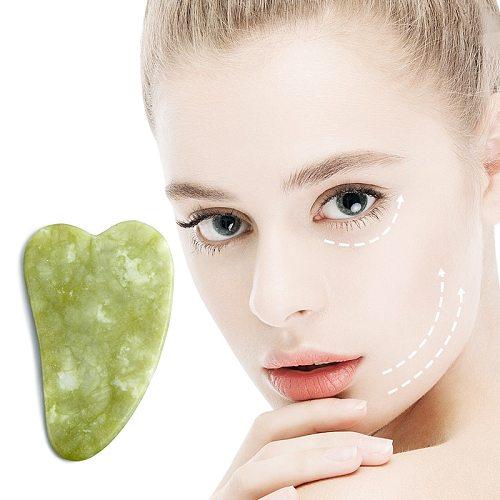 Natural Jade Scraping Board Facial Eye Massage Face-Lift Skin Rejuvenation Beauty gua sha Massage Tool For Face