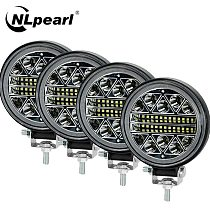 NLpearl 4inch 102W LED Work Light Bar Off Road 12V 24V Spot LED Light Bar for Truck SUV 4WD 4x4 Boat ATV Jeep Tractor Fog Light