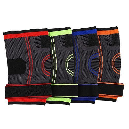 Free shipping Outdoor Sports Knitted Knee Pads Mountain Climbing Biking Basketball Running Sports Nylon Strap Pressure Knee Pads