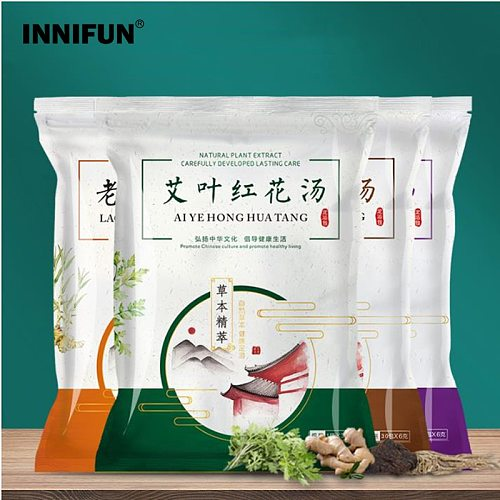 30pcs Foot SPA Massage Bath Powder Wormwood Ginger Feet Soaking Bathing Herbal Detoxification Anti Edema Dysmenorrhea Insomnia