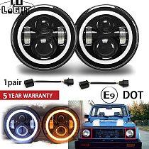 CO LIGHT 1 Pair 7'' Running Lights 50W Hi Lo H13 Led Headlight Kits Car Led H4 Auto Led for LADA Niva Safari Patrol UAZ Offroad