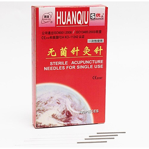 Blessfun Chinese Traditional HuanQiu Disposable Sterile Acupuncture Needles ZhenJiu Needle For Single Use 100pcs Per Pack