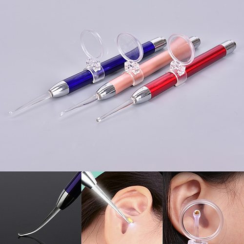 New Baby Ear Cleaner Ear Wax Removal Tool Flashlight Earpick Ear Cleaning Earwax Remover Ear Curette Light Spoon With Magnifier