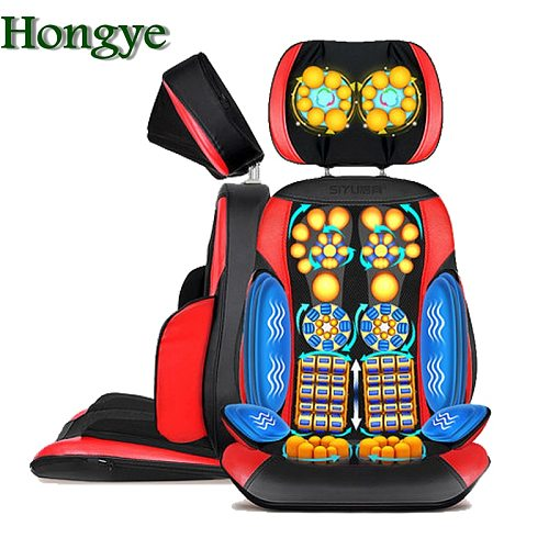 High quality body Heating massage chair Electric vibrating back   sofa device Neck massage cushion pillow chair