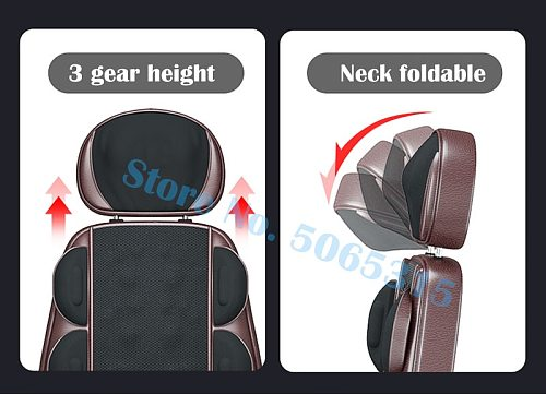 Electric full body massage chair neck back waist massage cushion heat & vibrate massage pad as a gift for wife parents 220V