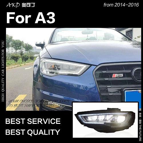 AKD Car Styling Head Lamp for Audi A3 Headlights 2014-2016 S3 LED Headlight DRL Hid Head Lamp Bi Xenon Beam Accessories