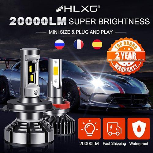 H7 LED Bulbs H4 LED Bulbs H11 LED Car Light 12V 9005 9006 LED H8 H9 6000k Phares Auto 4300K 5000K 8000K 20000LM from France HLXG