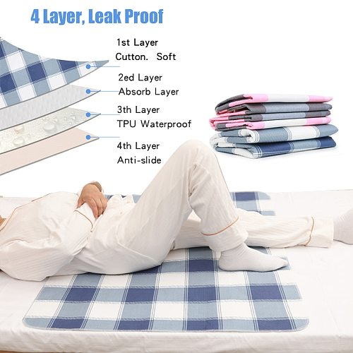Medyeye Urine Mat incontinence pad bed pad Adult Diaper Nappy  bed sheet under pad Waterproof Washable  pad disposable mattress