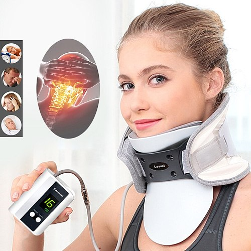 Medical Neck Fixator Traction Automatic Inflatable Device Cervical Spine Massager Household Neck Correction Traction Apparatus