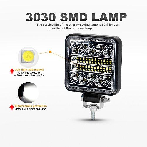 NLpearl 4inch 102W LED Work Light Bar Off Road 12V 24V Spot LED Light Bar for Truck SUV 4WD 4x4 Boat ATV Jeep Tractor Fog Light