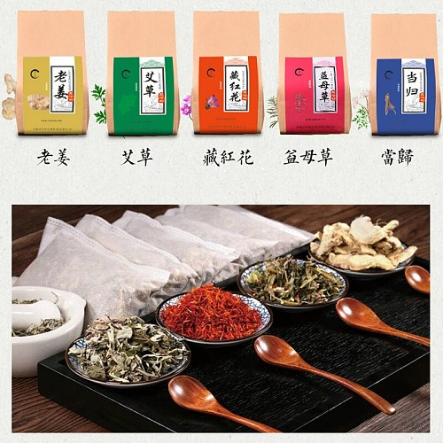 6g X 30bags Foot Bath Powder Wormwood Ginger Saffron Foot Bath Bag Conditioning Spa Relaxion Dehumidification Relieve Fatigue