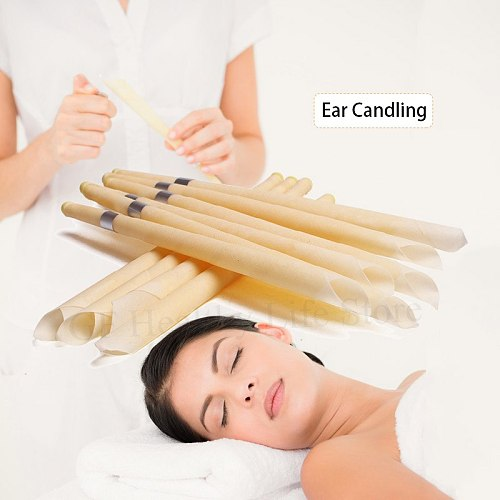 10-100Pcs Beewax Ear Hopi Candles Ear Wax Removal Tool Indiana Aromatherapy Ear Candle Coning Natural Therapy Ear Care Candle