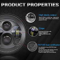 CO LIGHT 7inch Motorcycle Headlamp E9 DOT E-mark Led Headlight for Offroad Lada 4x4 Niva UAZ H4 Hi Low Beam 50W 30W 12V 24V