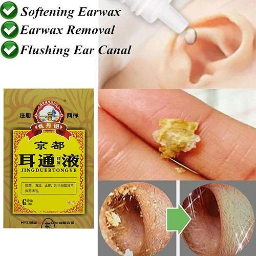 Earwax Remover Drops Ear Cleansing Ear Acute Otitis Drops Chinese Herbal Medicine for Ear Tinnitus Deafness Sore
