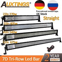 Auxtings 22  32  42  52 inch Led Light Bar Work Light 7D led bar 3-Row 4x4 Truck ATV Car Offroad Driving Straight Light Bar