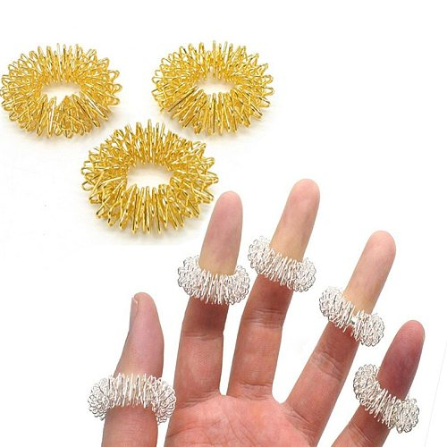 5PCS Finger Massage Ring Acupuncture Ring Health Care Body Massager Relax Hand Massage Finger Lose Weight