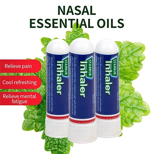 3Pcs/lot Nasal Essential Oils Rhinitis Mint Cream Refresh Nose Cold Cool Herbal Ointment 100% Original Thailand Nasal Inhaler