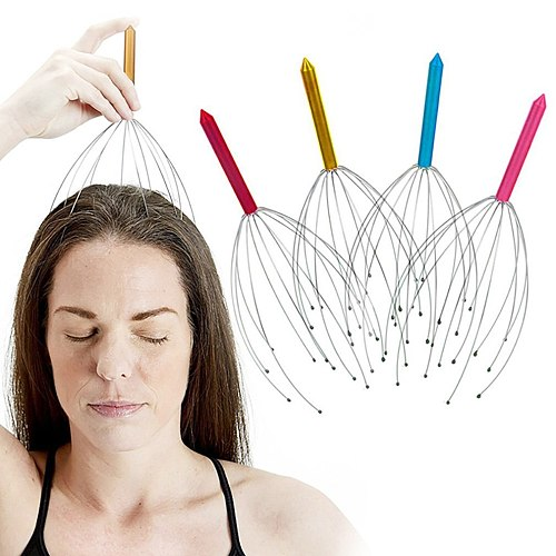 Head Wire Massage Claw Octopus Scalp Massage Claws Clearing Veins Soothing Brain Refreshing Head Relaxer Hair Claw