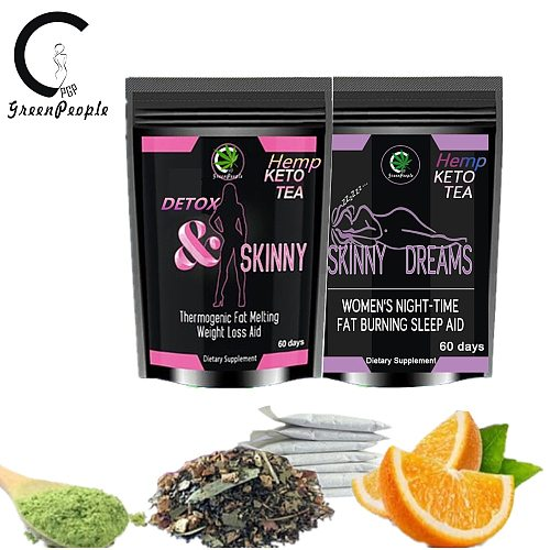 GPGP Greenpeople Detox Tea Day Detox Slimming At Night Intestinal Cleansing To Lose Weight Effective Fat Burning Products