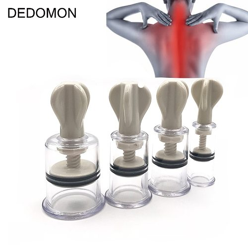 1 Pc 4 Sizes Vacuum Twist Rotary Cupping Professional Nipple Enlargement NO Pump Suction Enlarger Body Cupping Plastic