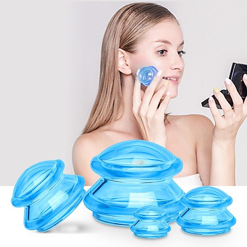 2/4pcs Silicone Massage Cups Masajeador Vacuum Suction Cup Set AntiCellulite Jar Deep Tissue Facial Cupping Relaxation Body Care