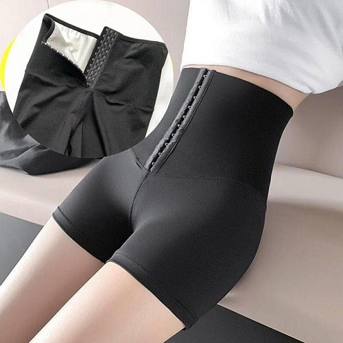 Fitness Leggings Workout Suits Sweat Sauna Pants Body Shaper Slimming Pants Thermo Shapewear Shorts Waist Trainer Tummy Control