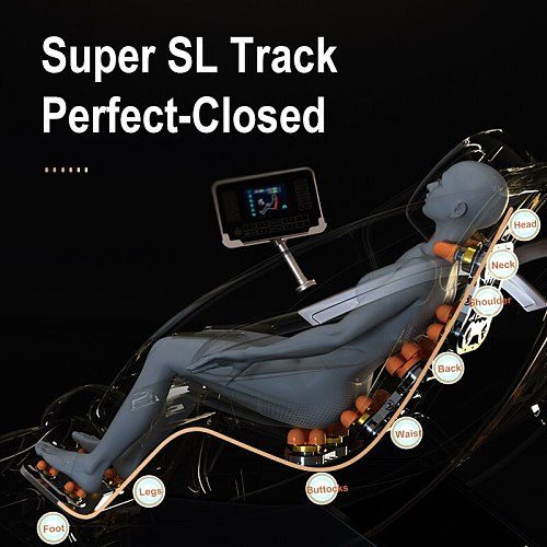 AYIYUN Full Body Leather Parts Luxury 4d Zero Gravity Electric Price Cheap Portable Recliner Machine Foot Massage Chair 6655